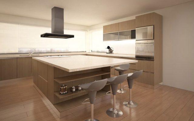 BM Diseño cocina tendencia moderna avellano 5