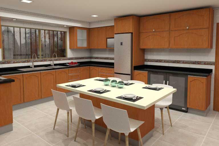 Moderno Moderna Cocina De Diseño Y Baño Ltd Elaboración - Ideas para ...